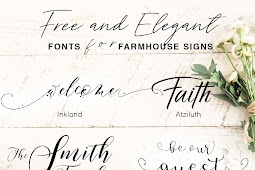 Free and Elegant Fonts for Farmhouse Signs