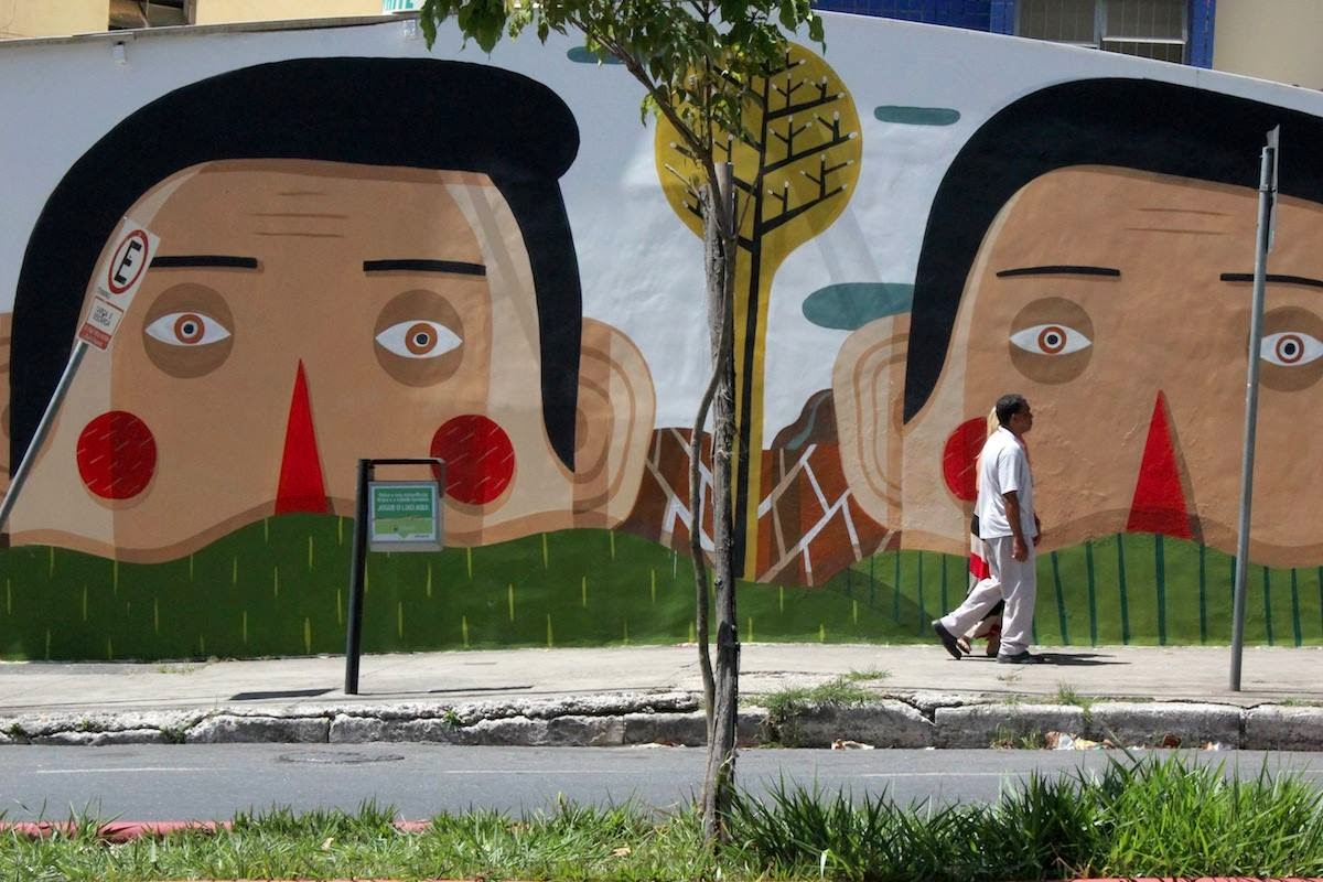 Our friend Agostino Iacurci spent a few weeks in Brazil where he had the opportunity to work on a new piece in Belo Horizonte, the capital city of the Brazilian state of Minas Gerais, located in the southeastern region of the country. 1