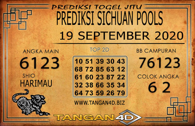 PREDIKSI TOGEL SICHUAN TANGAN4D 19 SEPTEMBER 2020