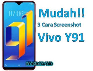 Cara leengkap screenshot Hp Vivo Y91 dan 91c ,tombol,dengan 3 jari