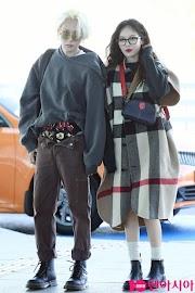 ✰PHOTO✰ Hyuna i Hyojong na lotnisku w drodze do Paryża