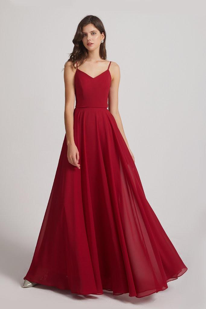 abito damigella rosso