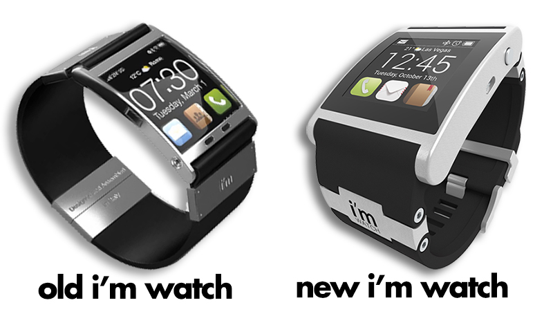 above  comparison of the original i m watch and the newest version    Im Watch