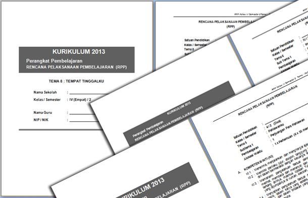 RPP Kelas 4 Semester Genap Kurikulum 2013 Revisi Terbaru 2016