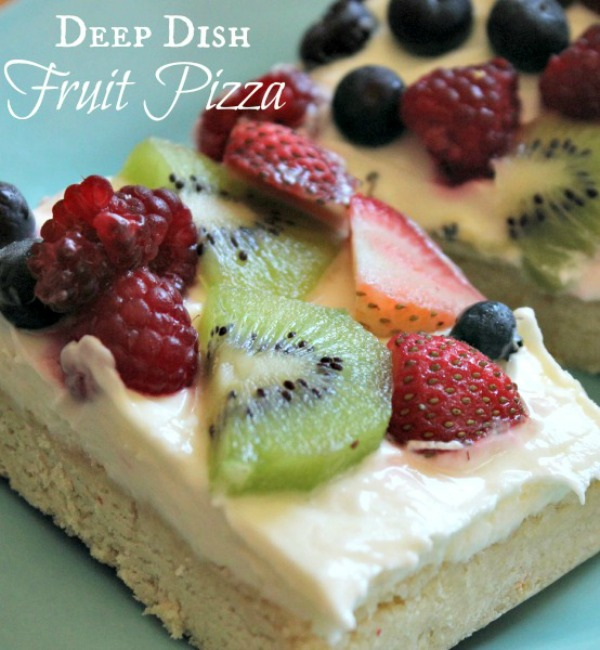Deep Dish Fruit Pizza from Clever Housewife
