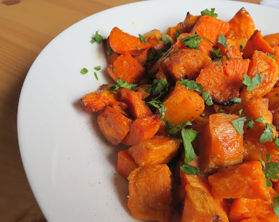 Roasted Sweet Potato Salad with Lime & Honey