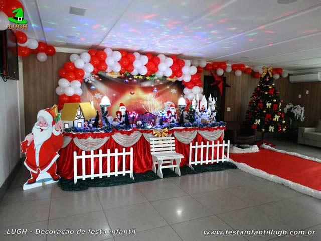Natal - Decoração de aniversário tradicional luxo com árvore de Natal
