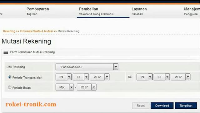 Cara cek mutasi transfer rekening lewat internet banking.
