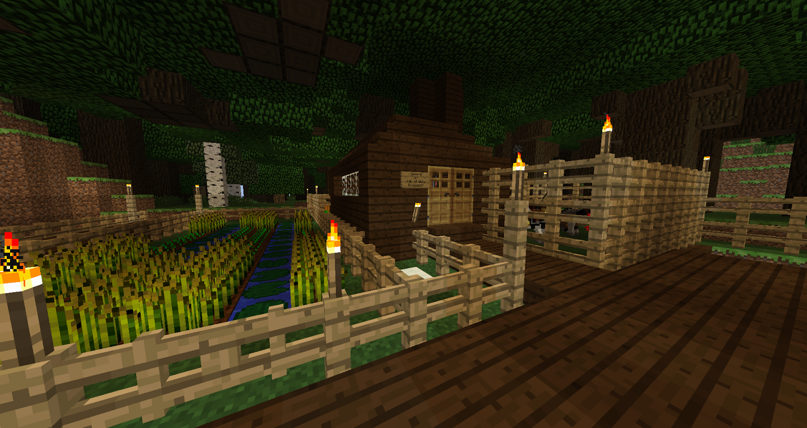 Minecraft Architect Secret Base In A Roofed Forest
