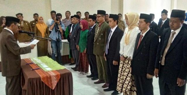Resmi Dilantik, Ketua KPU Soppeng Minta Anggota PPK Netral