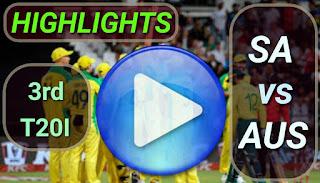 SA vs AUS 3rd T20I 2020