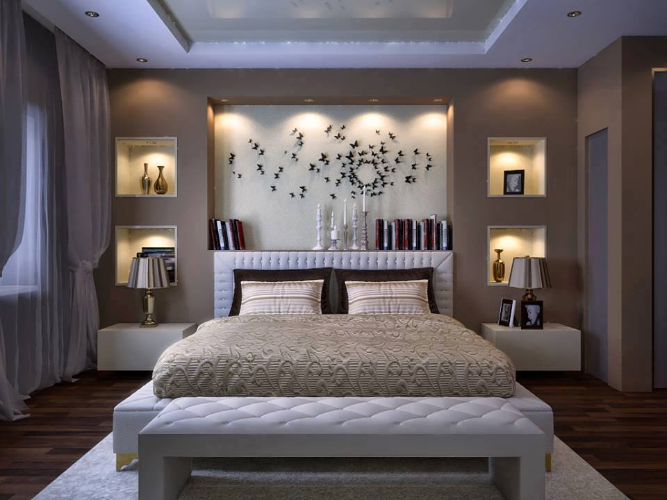 15 Stylish Master Bedroom Wallpaper Designs