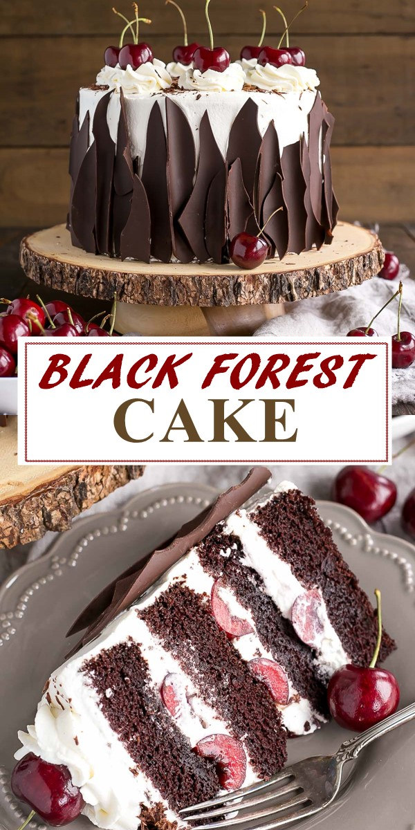 BLACK FOREST CAKE #cakerecipes