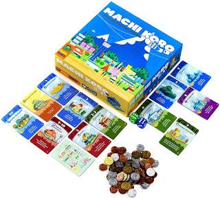 Componentes del juego de mesa Ciudad Machi Koro