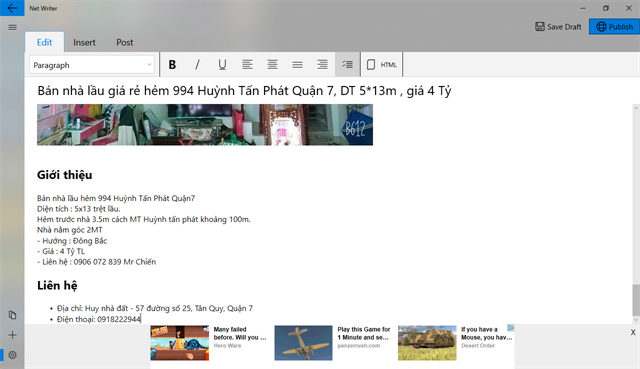 Net Writer 2 - công cụ quản lý bài viết blogspot trên windows