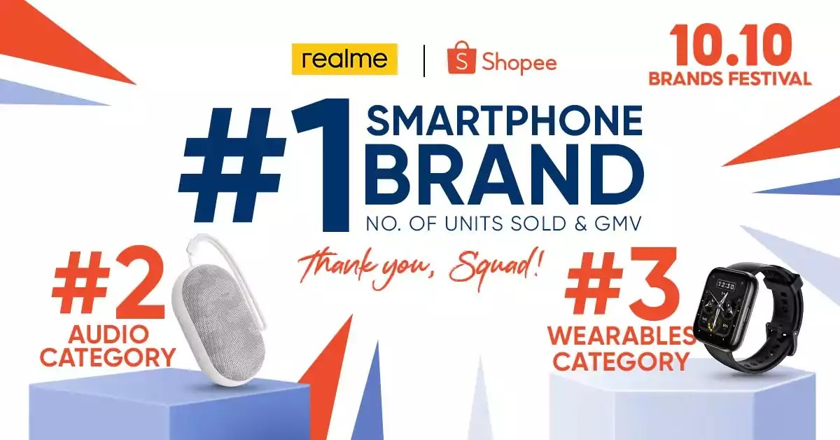 realme 10.10 Shopee Milestone