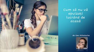 Articol resurse umane - Cum să nu vă epuizați lucrând de acasă