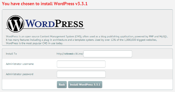 Instalación de WordPress