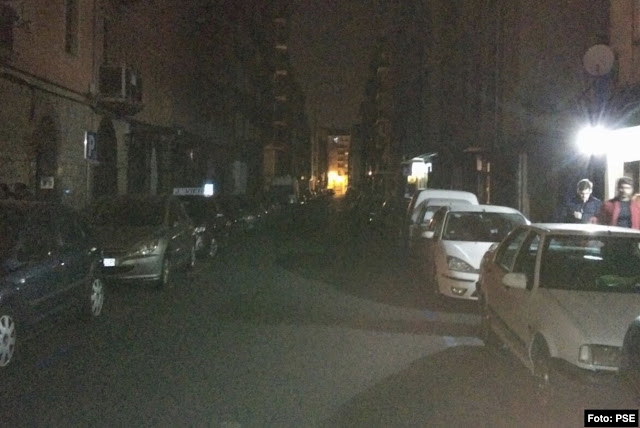 apagón en calle Letzezar