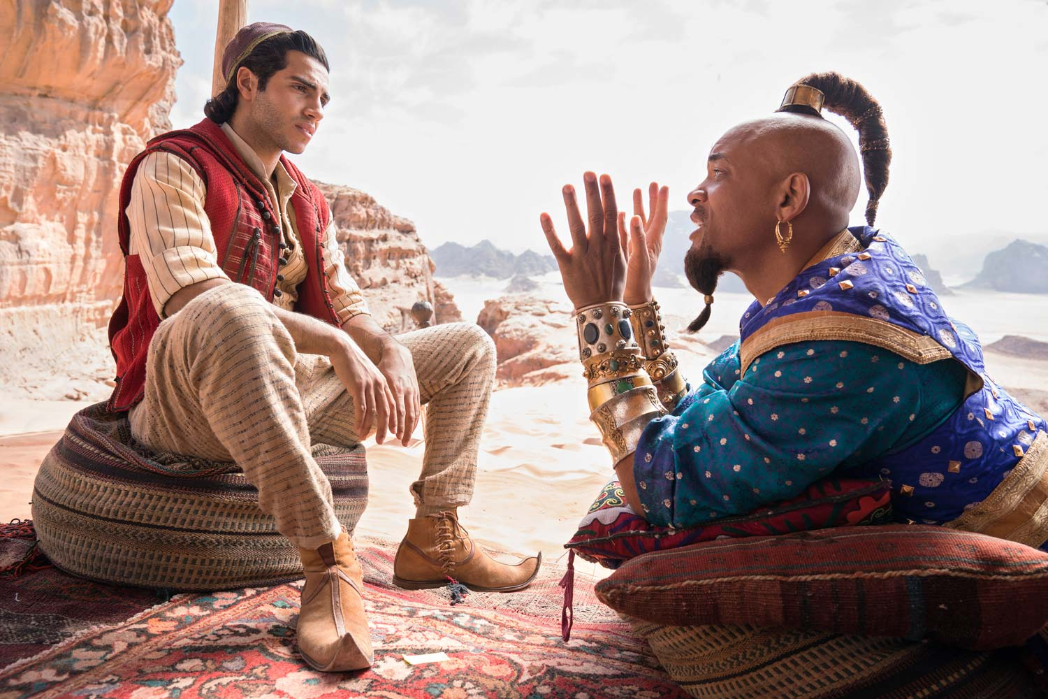 Aladdin 2019 -  Mena Massoud y Will Smith