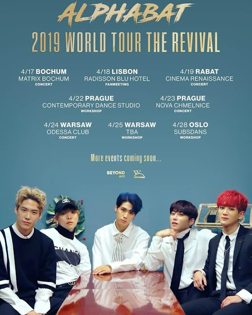 Alphabat 알파벳 2019 World Tour The Revival tour europa