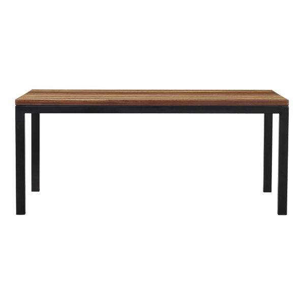copy cat chic crate and barrel parsons reclaimed wood top dining table. Black Bedroom Furniture Sets. Home Design Ideas