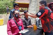Rangkaian HUT Pemuda Pancasila, MPW, MPC, PAC di NTB Bagi-bagi Masker Secara Gratis