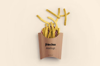 Mockup kemasan snack sederhana PSD