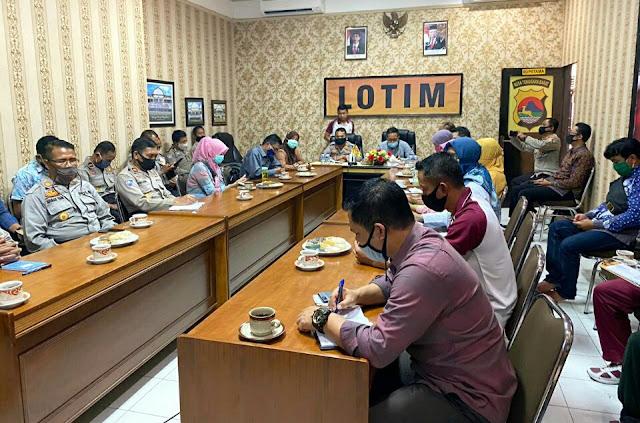 Polres Lotim Gelar Rapat Evaluasi Penyelenggaraan Lomba Kampung Sehat