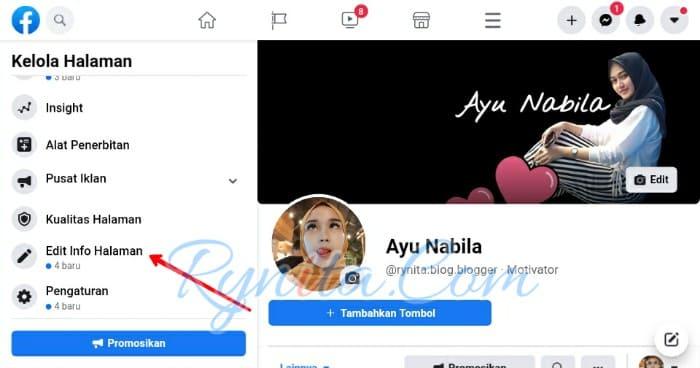 cara memengganti username facebook