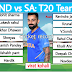 INDvsSA: 15-member team India announced for T20 series, Hardik's return, Dhoni out