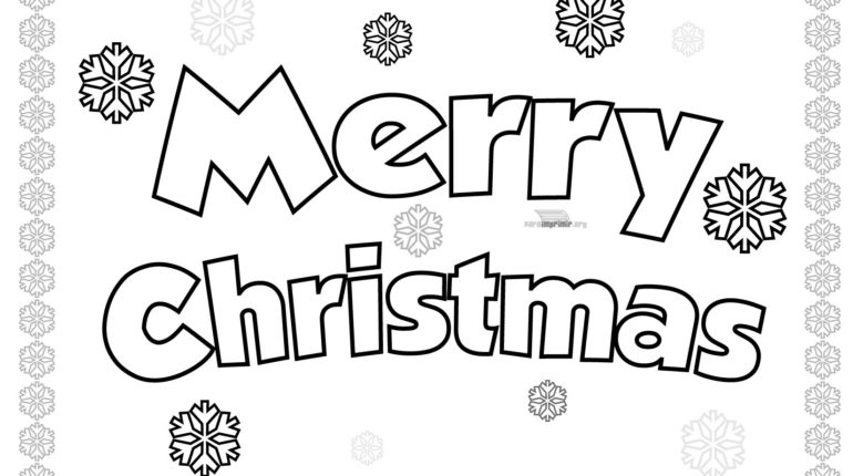 Free Merry Christmas Coloring Pages 2017 Free Printable