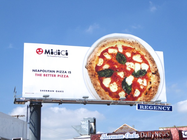 Midici Neapolitan pizza special extension billboard