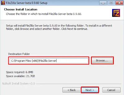 FileZilla Directory