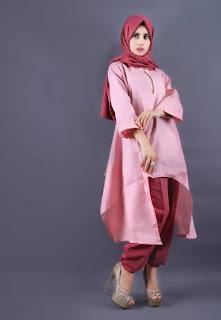 Model baju muslim tunik modern terbaru