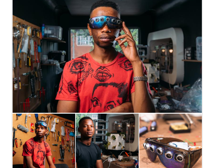 Siphamandla Mqcina and Philanjalo Ndlovu created C4Me, which is a device that will assist the visually impaired to find their way