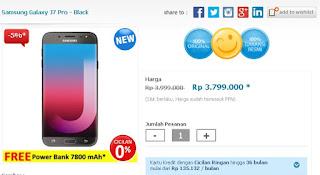 Samsung Galaxy J7 Pro 32 GB Turun Harga Jadi Rp 3.799.000