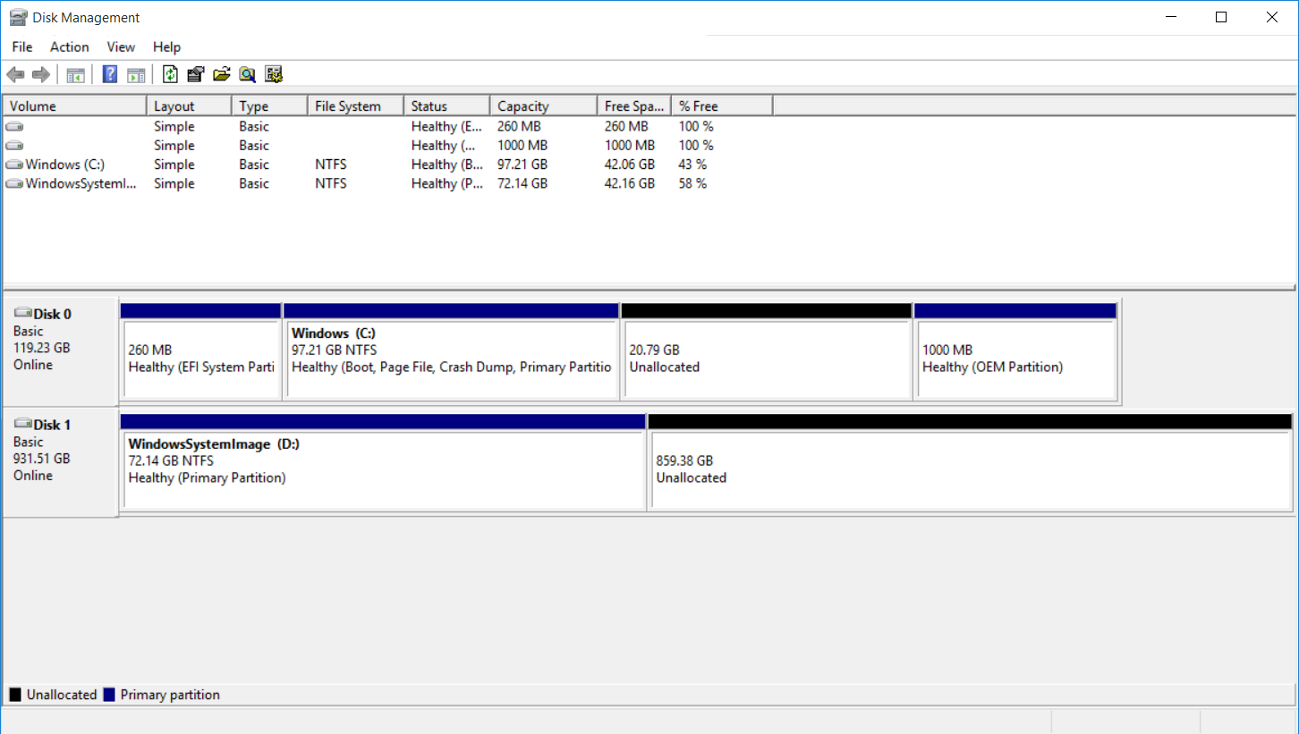 how to partition a ssd hard drive windows 10