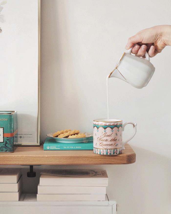 Tea time - l'heure du thé avec des shortbreads