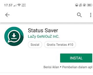 cara download foto status whatsapp