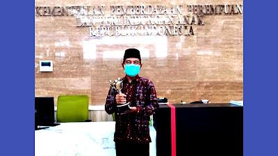 Bupati Merangin H.Mashuri Raih Anugerah APE 2020 dari Kementerian PPPA RI
