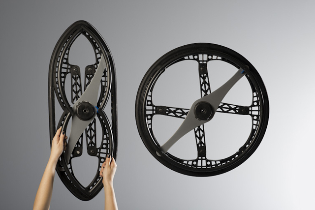 The Morph Folding Wheel designed by Vitamins Design :: via Twowheelsplus