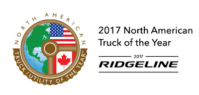 The Honda Ridgeline Has Won the 2017 North American Truck of the Year Award