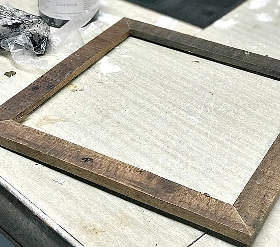wooden frame with no picture