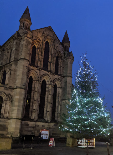 A Viking Christmas Review & Top Tips  - Hexham abbey Christmas tree