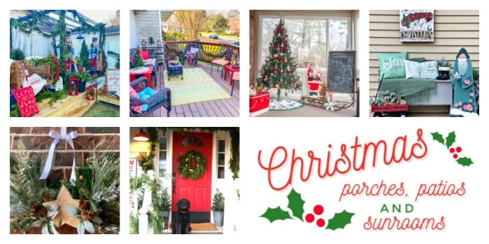 Christmas porches decorated for the holidays