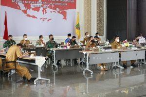 Pemprov Lampung Ikuti Rakor Arahan Presiden Mengenai Pengetatan dan Pemeriksaan Arus Balik