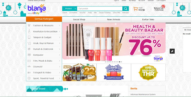 Belanja Online yang nyaman ya di blanja.com