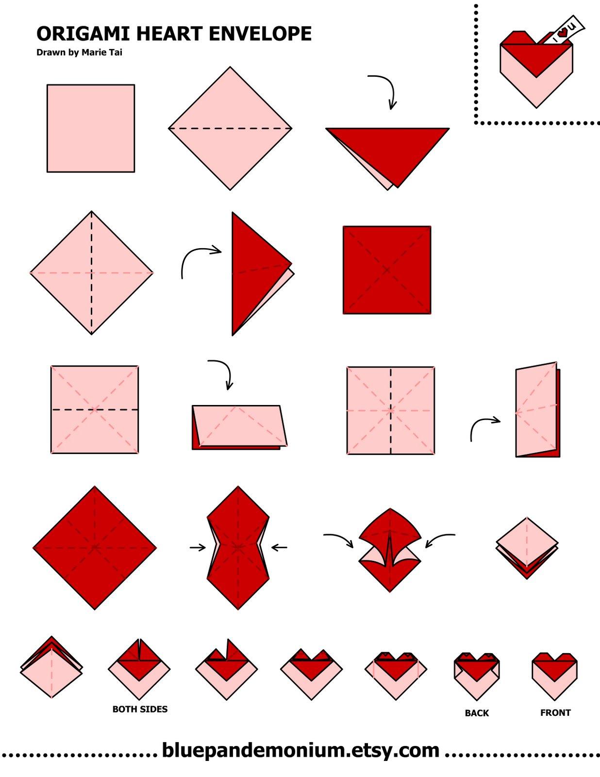 Easy Origami Heart | Car Interior Design - photo#11