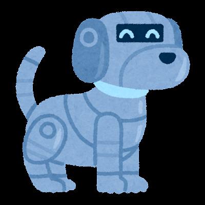 ペットロボットのイラスト(犬)
